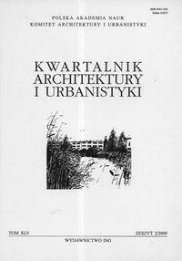 Okładka książki Kwartalnik Architektury i Urbanistyki. Tom 45. zeszyt 2/2000