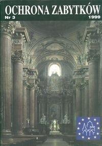 Okładka książki Ochrona zabytków 1999 nr 3