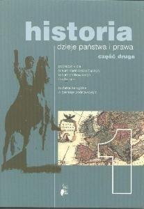 Okładka książki Historia 1. Dzieje państwa i prawa. Część 2