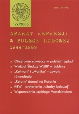 Okładka książki Aparat represji w Polsce Ludowej 1944-1989