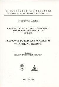 Okładka książki zdrowie publiczne w Galicji w dobie autonomii