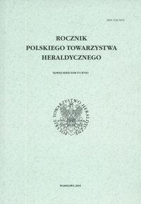 Okładka książki Rocznik Polskiego Towarzystwa Heraldycznego. Tom VI (XVII)