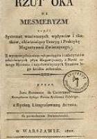 Rzut oka na mesmeryzm