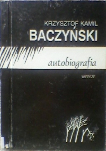 Okładka książki Autobiografia - wiersze