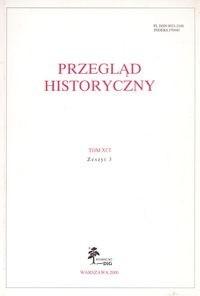 Okładka książki Przegląd Historyczny rok 2000 nr 3 Tom XCI