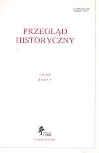 Okładka książki Przegląd Historyczny rok 2000 nr 4 tom XCI