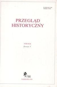 Okładka książki Przegląd Historyczny rok 2001 nr 3 tom XCII
