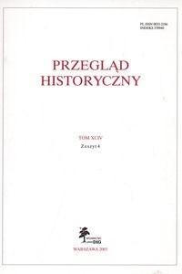 Okładka książki Przegląd Historyczny rok 2003 nr 4 tom XCIV