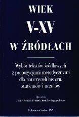Okładka książki Wiek V-XV w źródłach