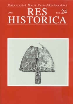 Okładka książki Res Historica. Tom 24