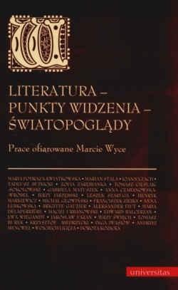 Okładka książki Literatura-punkty widzenia-światopoglądy