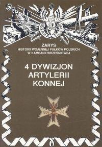 Okładka książki 4 dywizjon artylerii konnej.