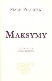 Okładka książki Maksymy. Józef Piłsudski