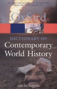 Okładka książki Dictionary of Contemporary World History.