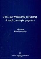 Okładka książki Studia nad współczesną polszczyzną