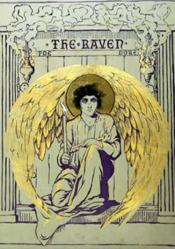 Okładka książki The Raven. Illustrated by Gustave Doré