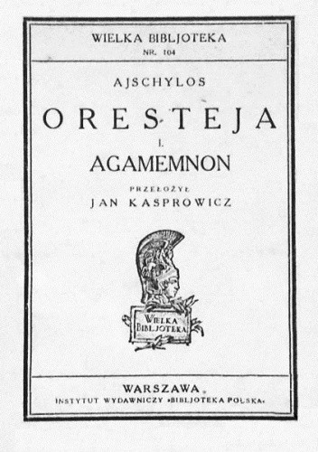 Okładka książki Agamemnon