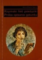 Rzymski list poetycki. Próba opisania gatunku
