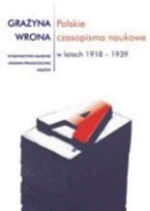 Okładka książki Polskie czasopisma naukowe w l.1918-1939