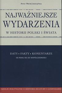 Okładka książki Najważniejsze wydarzenia w historii Polski i świata Daty fakty komentarze. Od 960 r. do współcz.