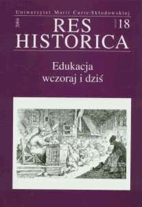 Okładka książki Edukacja wczoraj i dziś
