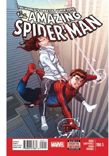 Okładka książki Amazing Spider-Man Vol 1 700.5 - Save The Universe