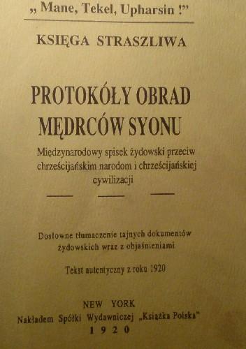 Okładka książki Protokóły obrad mędrców Syonu