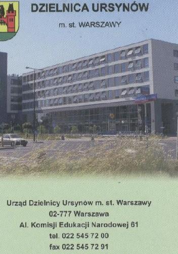 Okładka książki Dzielnica Ursynów m. st. Warszawy