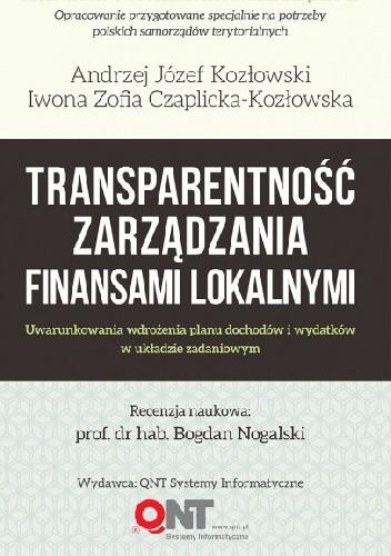 Okładka książki Transparentność zarządzania finansami lokalnymi