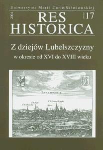 Okładka książki Z dziejów Lubelszczyzny w okresie od XVI do XVIII wieku
