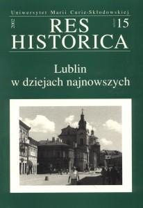 Okładka książki Lublin w dziejach najnowszych