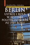 Okładka książki Berlin. Ustrój i rola w systemiepolitycznym RFN po 1989 r.