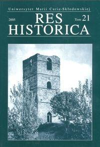Okładka książki Res Historica tom 21