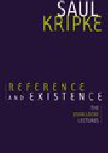 Okładka książki Reference and Existence: The John Locke Lectures