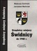 Okładka książki Urzędnicy miejscy w świdnicy do 1740 r.