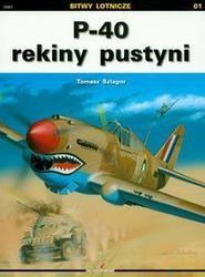 Okładka książki P 40 rekiny pustyni /Bitwy lotnicze