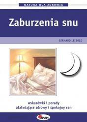 Okładka książki Zaburzenia snu. Wskazówki i porady ułatwiające zdrowy i spokojny sen