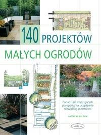 Okładka książki 140 projektów małych ogrodów