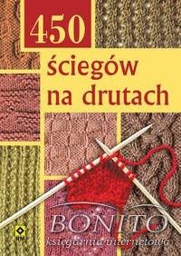 Okładka książki 450 ściegów na drutach