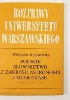 Polskie słownictwo z zakresu astronomii i miar czasu