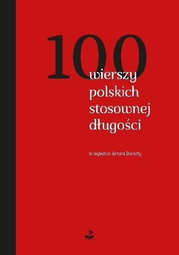 Okładka książki 100 wierszy polskich stosownej długości