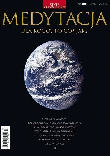 Okładka książki Medytacja - Style i Charaktery nr 1/2015