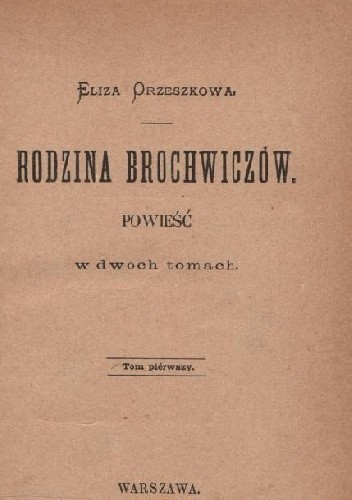 Okładka książki Rodzina Brochwiczów