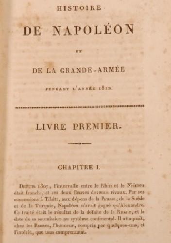Okładka książki Histoire de Napoléon et de la Grande-Armée en 1812