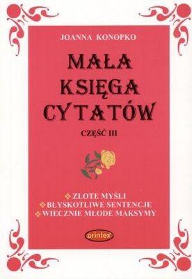 Okładka książki Mała księga cytatów cz.3