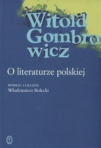 Okładka książki O literaturze polskiej