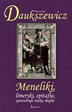 Okładka książki Meneliki, limeryki, epitafia sponsoruje ruska mafia