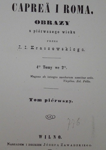 Okładka książki Caprea i Roma. Obrazy z pierwszego wieku t. I-II