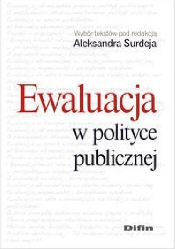 Okładka książki Ewaluacja w polityce publicznej