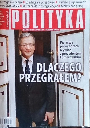 Okładka książki Polityka, nr 27/2015